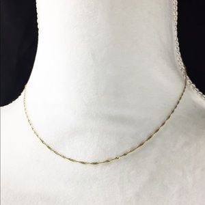 """Jewelry - 14K yellow Gold Elegant Twisted Necklace 💕16"""""""